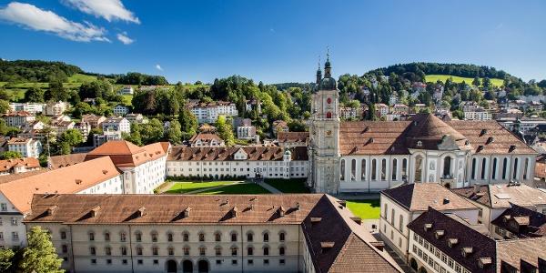 Luftaufnahme Stiftsbezirk St. Gallen