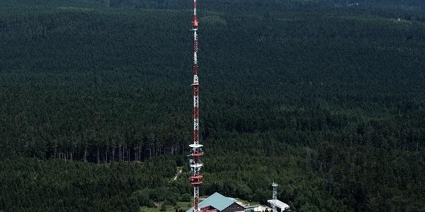 Javořice mountain (aerial view)