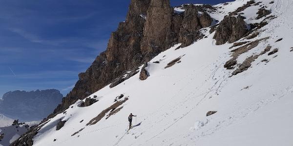 Steilerer Aufstieg Richtung Cirscharte