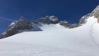 Gipfelaufschwung mit Randkluftsteig