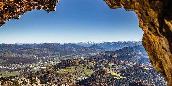 Ausblick vom Thomas Eder Steig ins Salzburger Land