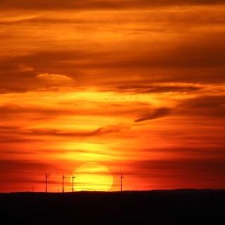 Sonnenuntergang von der Halde Norddeutschland