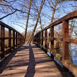 Brücke über die Nette am DeWittsee