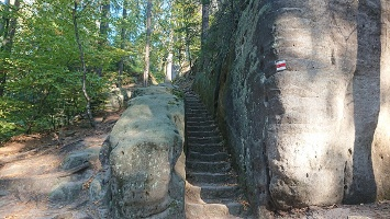 Foto Aufstieg zur Felsenburg Schauenstein