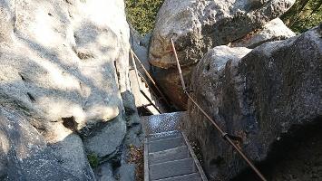 Foto Felsenburg Schauenstein - Abstieg