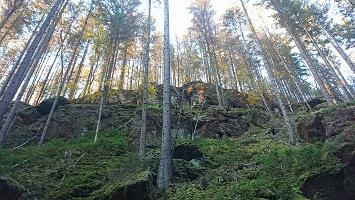 Foto Felsen über Lindigtstraße
