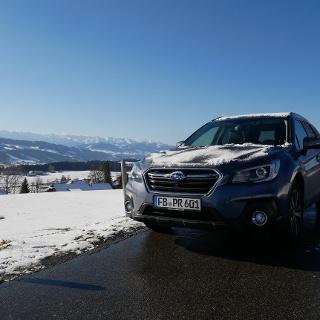 Auf Schnee-Abenteuer-Tour mit dem Subaru Outback