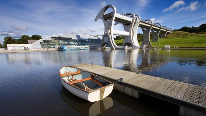Falkirk Wheel on the John Muir Way