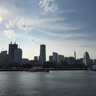Yokohama skyline from Cruise Center