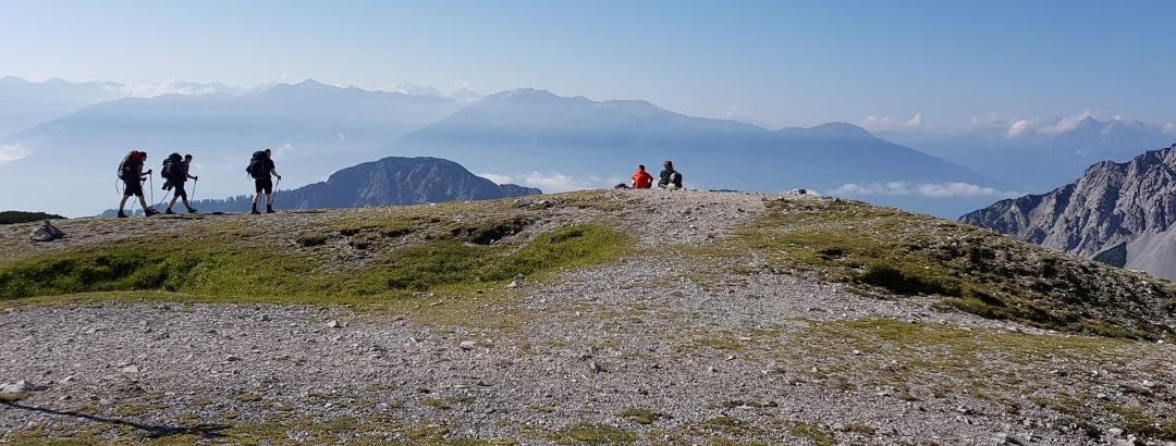 Wanderer im Karwendel