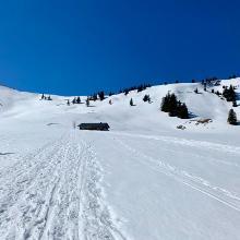 Vorbei an der Schönkahler Alpe