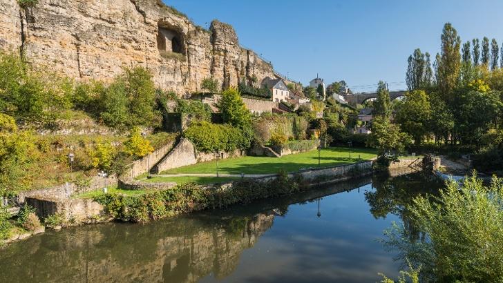 Der Bockfelsen im Luxemburger Stadtteil Grund