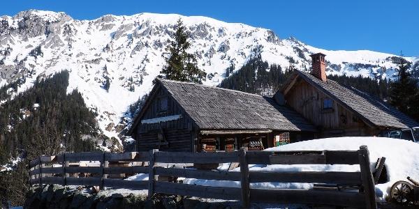 Ebner Alm im Winter 1266m