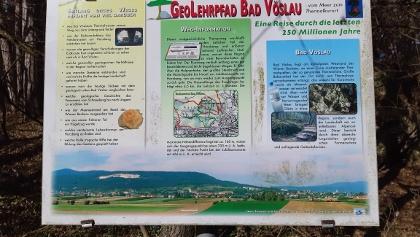 Übersichtstafel des Geolehrpfades Bad Vöslau