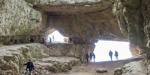 A Szelim-barlang csarnokában