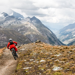 This fantastic Alpine trail starts at almost 3,000 metres