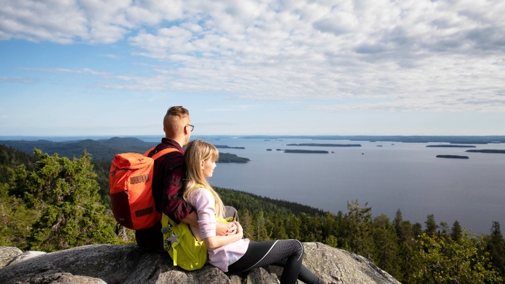 View over the Finnish Lakeland