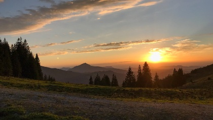 Sonnenuntergang in Jungholz