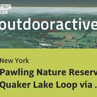 hiking trail in New York: Pawling Nature Reserve Quaker Lake Loop via Appalachian Trail