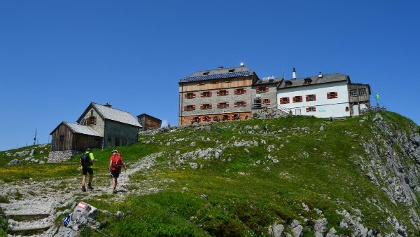 Ankunft am Watzmannhaus