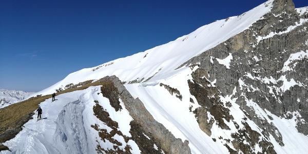 ... über die Felskarspitze zum Weißeck ...