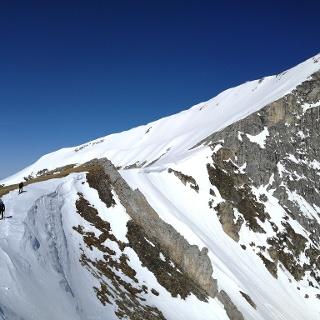 Weißeck - südseitiger steiler Gipfelhang