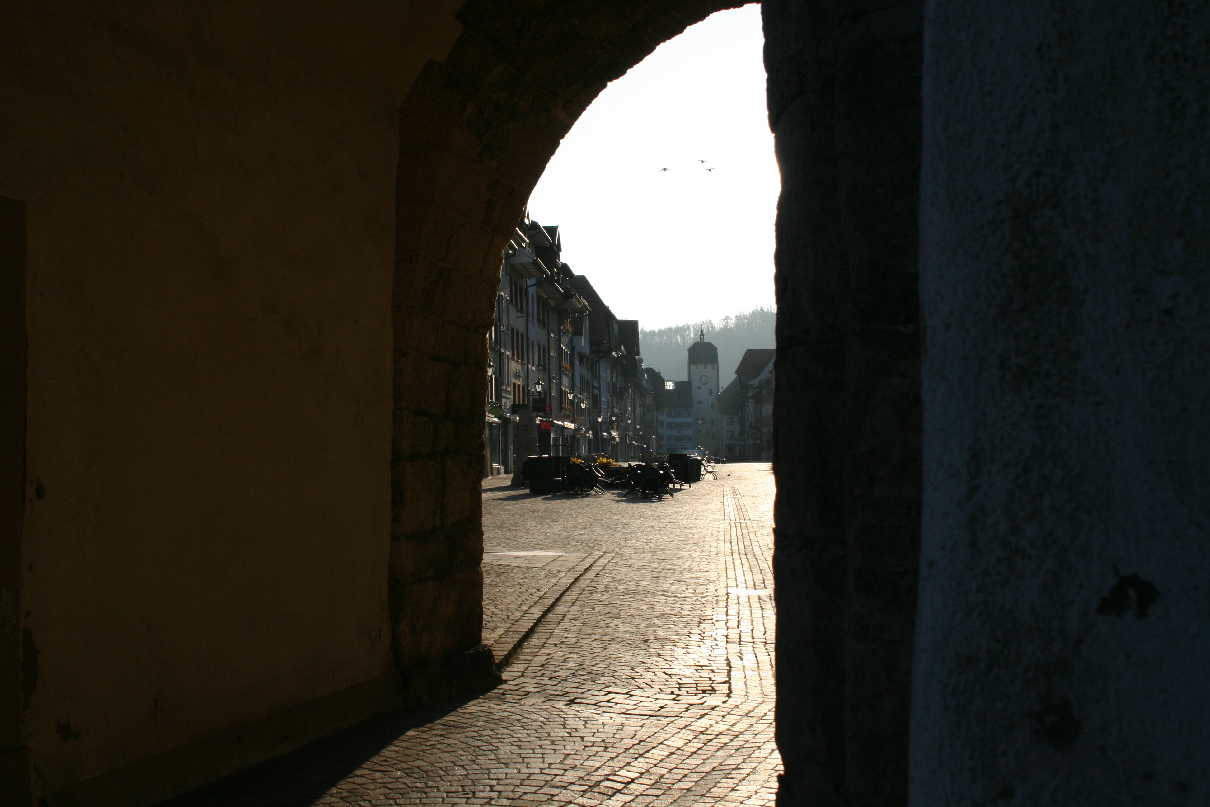 Auf dem Mittelweg (westliche Variante): am Unteren Tor Waldshut
