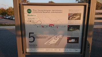 Foto Infotafel - Wanderbus Linie 241