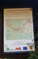 Foto Tafel mit Karte von Felsenpfad von Khaa