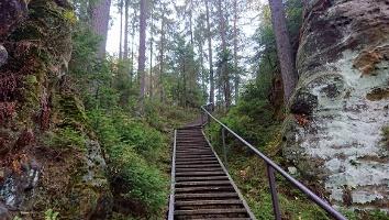 Foto Felsenpfad von Khaa - Stiege (Rückblick)