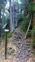 Foto Felsenpfad von Khaa - Abstieg ins Khaatal (Rückblick)