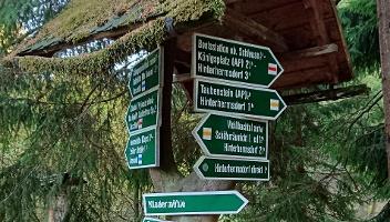 Foto Wegweiser - Taubenstein + Niedermühle