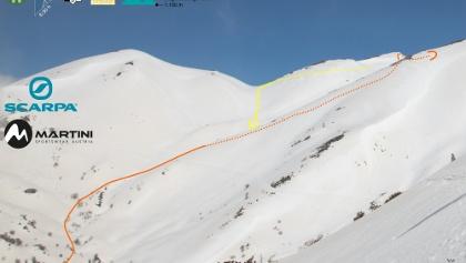 Topo - Übersichtsbild Skitour Melintaou auf Kreta