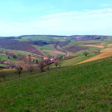 Blick vom Homberg ins Appelbachtal