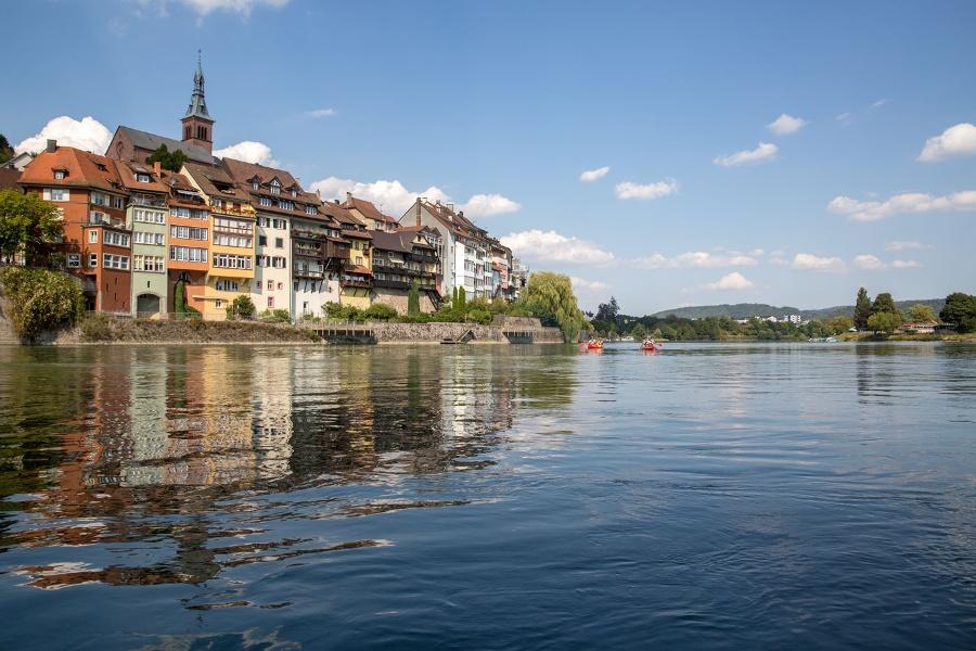 Bad Säckingen: Den Rhein Stromaufwärts