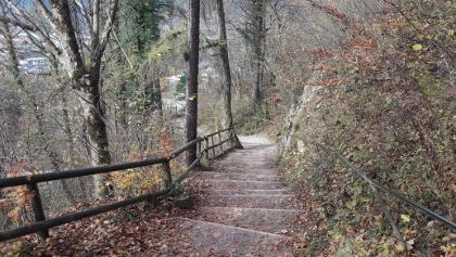 Die Stufen am Beginn der Wanderung. 285 davon gilt es zu erklimmen.