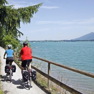 Radfahren am Forggensee