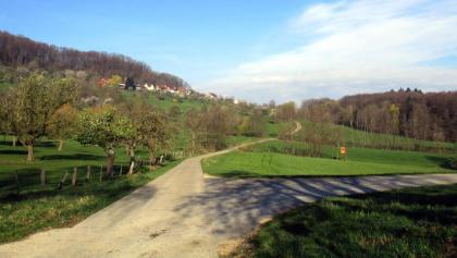 Vor dem Anstieg nach Aichelberg