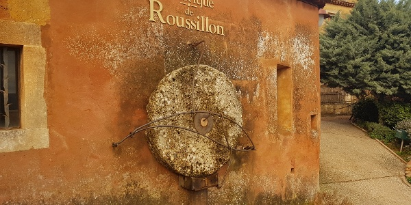 You will pass this old oil mill on the way out of Roussillon