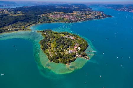 Insel Mainau aus der Vogelperspektive