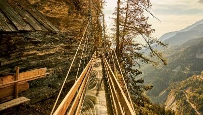 Hängebrücke, Bisse du Torrent-Neuf, Savièse