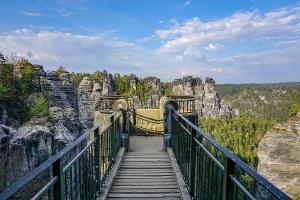 Foto Auf der Basteibrücke