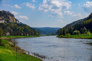 Foto Blick aus Wehlen Elbaufwärts