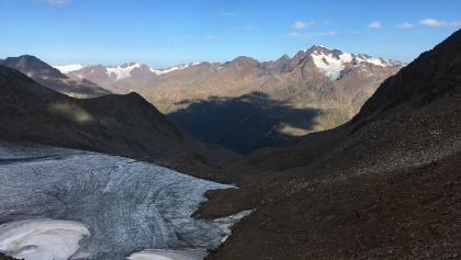 Blick vom Ramoljoch Richtung Wildspitze