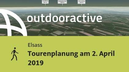 Wanderung im Elsass: Tourenplanung am 2. April 2019