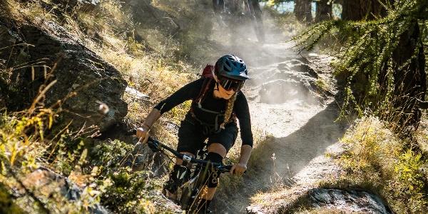 "Descent of the bike tour ""Moosalp Kalpetran Enduro"""