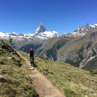 It is well worth stopping occasionally and taking in the amazing views of the Matterhorn, Mettelhorn and Weisshorn.