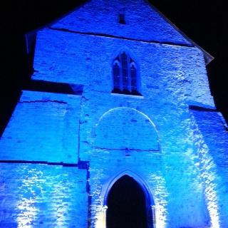 Königshalle Kloster Lorsch bei Nacht