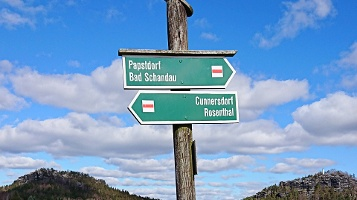 Foto Wegweiser nach Cunnersdorf