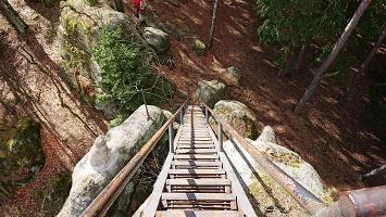 Foto Abstieg vom Katzsteinfelsen